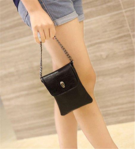 Handbag Pouch Black MioCloth Fashion Bag Crossbody Small Mini Cellphone Purse qx0PwBU
