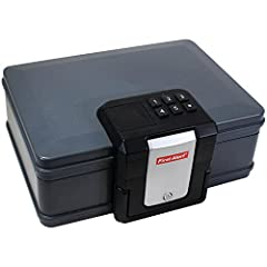 Safeguard your valuables from theft, fire, and water with the First Alert 2603DF Waterproof Fire Chest with Digital Lock. Featuring a capacity of 0.19 cubic feet, this fire-resistant safe offers enough space for your money, jewelry, important...