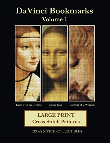 Davinci Bookmarks Volume 1: Large Print Cross Stitch Patterns