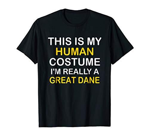 I'm a GREAT DANE Halloween Costume Idea Funny Gift Tshirt
