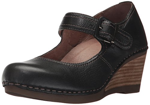 Dansko Women's Sandra Mary Jane Flat, Black Milled Nappa, 39 EU/8.5-9 M US by Dansko