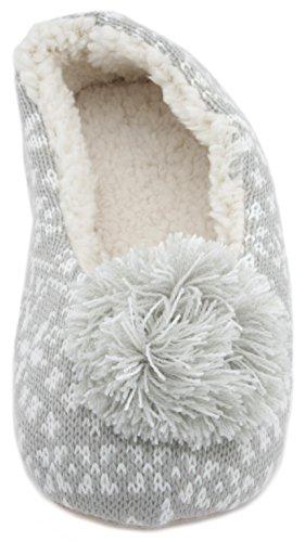 SlumberzzZ - Zapatillas de estar por casa de Material Sintético para mujer gris