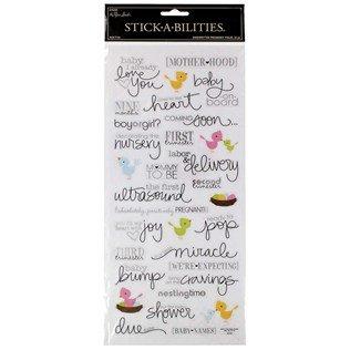 - Handwritten Pregnancy Foil Stickers