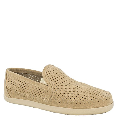 Minnetonka Women's Pacific Perforated Slip On,Stone Suede,US 7 - Minnetonka Outlet