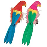 Beistle 50179-12 Feathered Parrots, 12-Inch