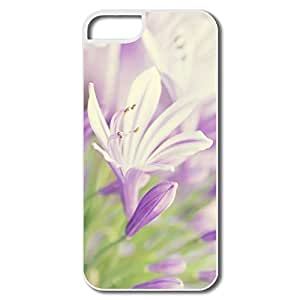 IPhone 5 5S Hard Plastic Cases, Flower Close White Cover For IPhone 5S