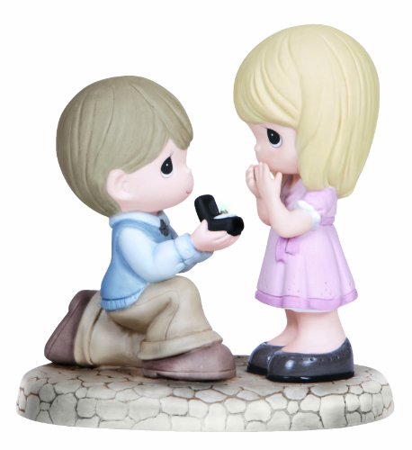 (Precious Moments, Will You Marry Me?, Bisque Porcelain Figurine, 133022)