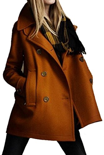Generic Classic Double Breasted Wool blend Peacoats