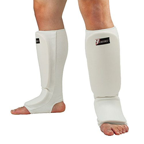 Revgear Youth White Cloth Shin and Instep Guard, Large - Grappling Shin Instep Guards