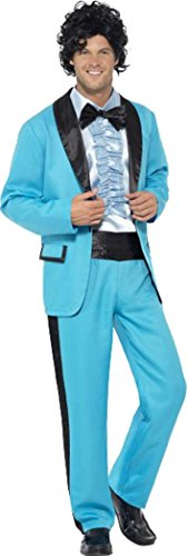 80's Prom King Costume Blue Chest 42