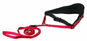 Cinturón Acolchado Canicross, Manos libres, Rojo