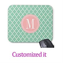 Customized MousePads Dark Mint Moroccan Tiles Lattice Personalized Mouse Pad