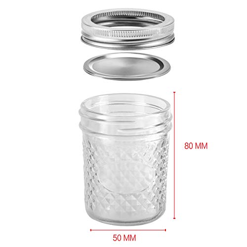 Mason Jars 6 OZ, VERONES 30 PACK 6oz Mason jars Canning Jars Jelly Jars With Lids and Bands, Ideal for Jam, Honey, Wedding Favors, Shower Favors, Baby Foods by VERONES (Image #5)