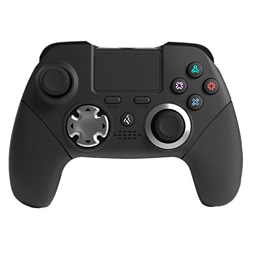 PS4 Elite Controller, Modded Custom Program 6 Axis Sensor Dual Vibration Elite PS4/PS3 Wireless Game Controller Joystick with Back Paddles and L3 R3 Buttons for FPS Games,WWII,Destiny,Fortnite (Six Button Ps3 Controller)