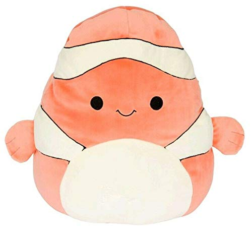 Squishmallow 8 inch Ricky The Clown Fish Plush Pillow Toy -