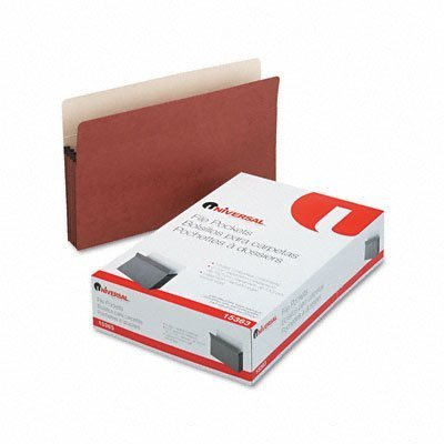 UNIVERSAL 5 1/4 Expansion File Pockets, Straight, Redrope/MLA, Legal, Redrope, 10/Pack (Case of 4) by Universal Office Products