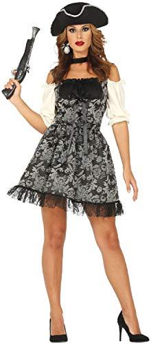 Ladies Baroque Pirate Vixen Captain Seven Seas Caribbean Hen Do Night Party TV Book Film Halloween Carnival Fancy Dress Costume Outfit (UK 10-12) -