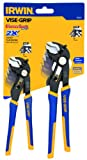 IRWIN Tools VISE-GRIP GrooveLock Pliers Set, V-Jaw, 2-Piece (1802531)