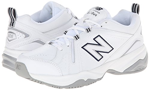 New Balance Women's WX608v4 Training Shoe, White/Navy, 8 B US