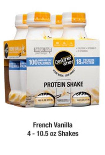 Designer shake vanille par Designer Whey - Pack de 4 / 10,5 oz
