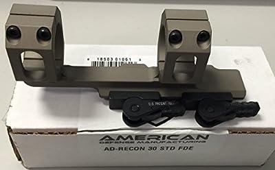 American Defense AD-RECON 30 STD FDE Riflescope Optic Mount, Flat Dark Earth by American Defense Mfg