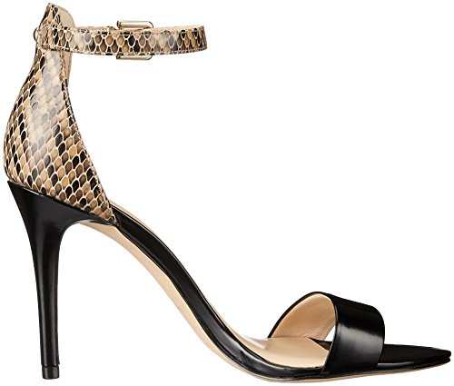 Nine West Women's Mana Leather Heeled Sandal Taupe Chevron Python sale low price fee shipping clearance footlocker finishline free shipping 100% original 2014 newest cheap price outlet supply ZUKN6