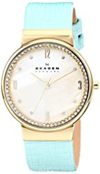 Skagen Women's SKW2166 Leonora Teal/Mother of Pearl Stainless Steel Watch