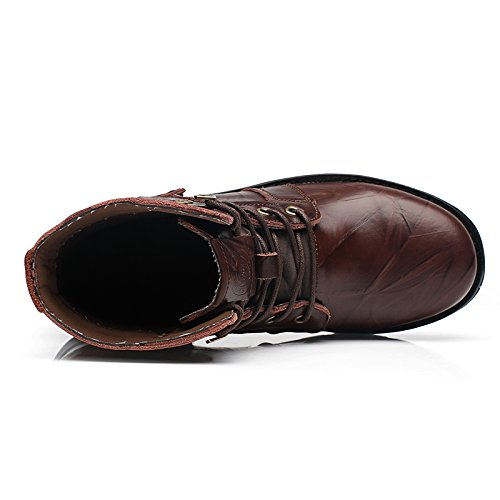 Athletic 41 High Top New Boots Leisure Eu Darkbrown Mens 5588 Leather Warm Qyy Working 0wgS7q
