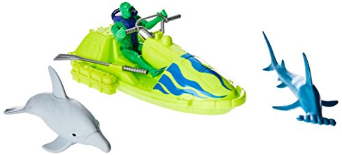 Dolphin Speed Boat - Wild Republic Dolphin, Hammerhead, Speed Boat, Oars, Scuba Diver, Gifts for Kids, Adventure Playset Piece 6