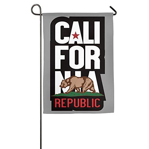 TE-REX California Republic Bear Home Flag Garden Party Flag For Festival Holiday Decoration Garden Indoor And Outdoor 1827inch
