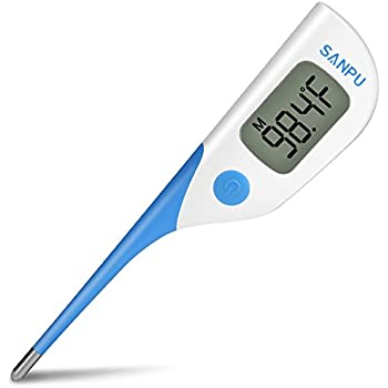 Digital Medical Thermometer Oral Rectal and Armpit for Baby Fast 8 Seconds Reading Waterproof with Fever,Temperature Clinical Professional Detecting Kid ...