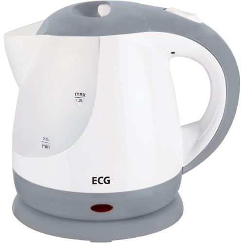 ECG RK 1210 gris, 900-1100W, 1,2 l de capacité, Jauge à eau des deux côtés, Connecteur central, Élément non visible