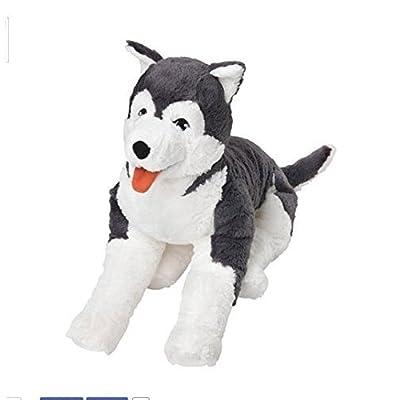 Ikea Livlig Soft Toy Husky Dog Siberian Stuffed Alaskan Malamute Eskimo Large: Toys & Games