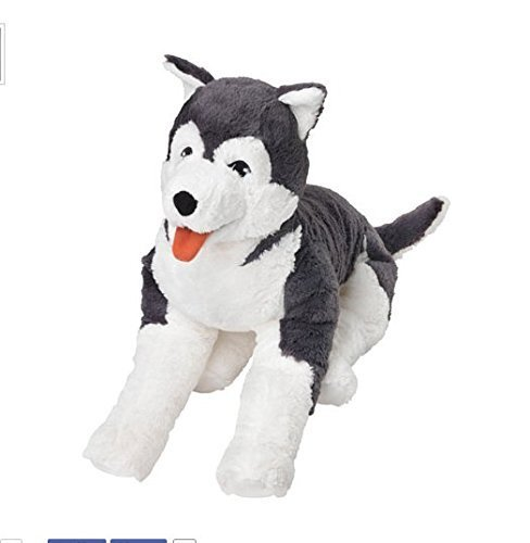 Toy Husky - Ikea Livlig Soft Toy Husky Dog Siberian Stuffed Alaskan Malamute Eskimo Large