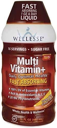 Wellesse Multi Vitamin+, Citrus, 16 fl oz