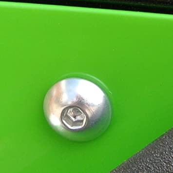 Kit visserie car/Ã/©nage en aluminium DT125R 88-04 Rouge