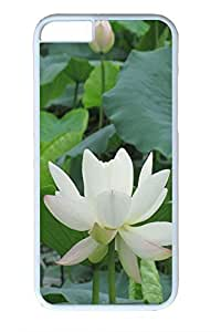 iPhone 6 Plus Case, Personalized Protective Hard PC White Case Cover for Apple iPhone 6 Plus(5.5 inch)- Beauty Lotus