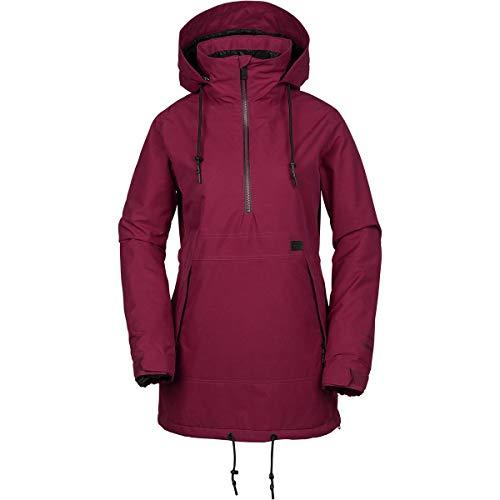 Volcom Women's Fern Insulated Gore-Tex Pullover Snow Jacket, Magenta, Medium