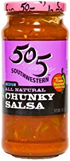 product image for 505 Southwest Salsa, Chunky Medium Chile, 16-Ounce Glass (Pack of 4)
