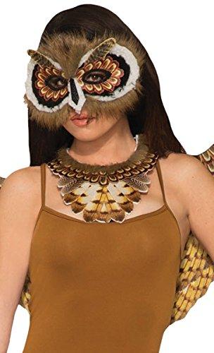 Forum Novelties Women's Non-Feathered Owl Mask, Multi, -