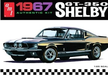 (AMT 1967 Ford Shelby GT350 1/25 Scale Plastic Model Kit Black)