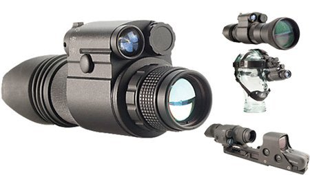 Night Optics D-300 Generation 2+ Standard Night Vision Monocular, Black