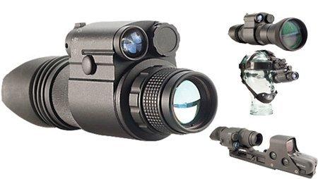 Night Optics D-300 Generation 2+ Standard Night Vision Monocular, Black