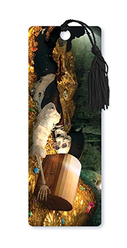 Pirate Bookmarks (Dimension 9 3D Lenticular Bookmark with Tassel, Pirate Skeleton with Treasure Chest (LBM096))