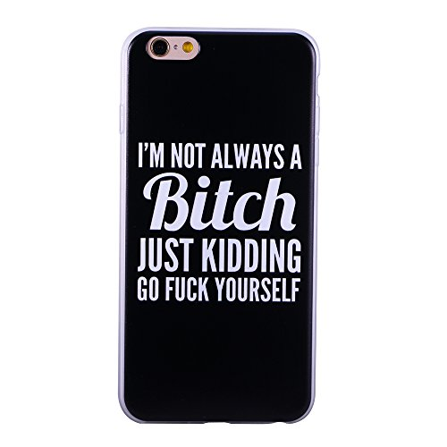 Link Slim Ultra - For iPhone 6/iPhone 6s Case, ZQ-Link® Ultra Slim Soft TPU Case Cover Protective Bumper for Apple iPhone 6/iPhone 6s 4.7 Inch Funny Quotes Design