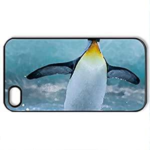 Alone - Case Cover for iPhone 4 and 4s (Birds Series, Watercolor style, Black)