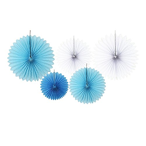 Large Product Image of Baby Shower Decorations for Boy, It's A Boy, Banner, Tissue Paper, Fans, Honeycomb Paper Balls, Tassels, Blue, 13pcs., Gold Foil, Hanging, Party Supplies, Indoor/Outdoor