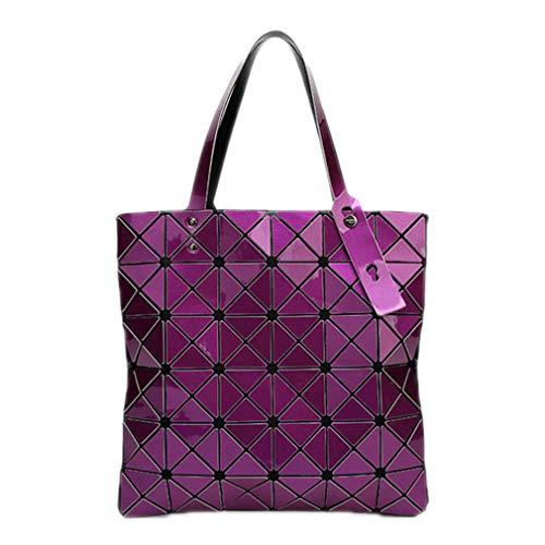 Tracolla Shimmer Ivory Borsa Laser Geometry Purple Sacchetti Diamond A Pieghevole Lattice Colori Di Bao Tote Donne Shopper Spalla 15 q4Zxp4