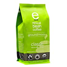 Ethical Bean Coffee Classic Medium Roast, Ground, 8-Ounce