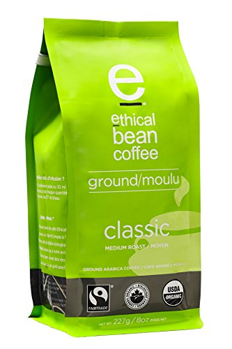 Ethical Bean Coffee Classic, Medium Roast, Ground, 8-Ounce Bag